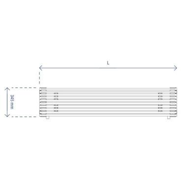 HushLab Fat Horizontal grzejnik horyzontalny podwójny 345x1000 939W, biały - 729498_T1
