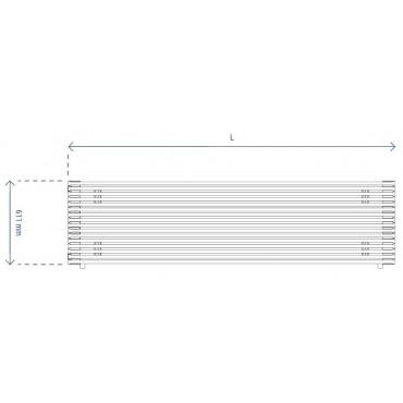 HushLab Fat Horizontal grzejnik horyzontalny podwójny 611x1200 1663W, biały - 729502_T1