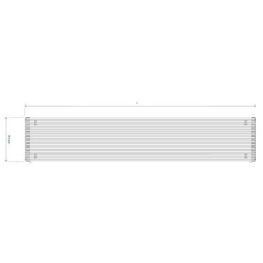 HushLab Fat Horizontal grzejnik horyzontalny podwójny 915x2000 3950W, biały - 729515_T1