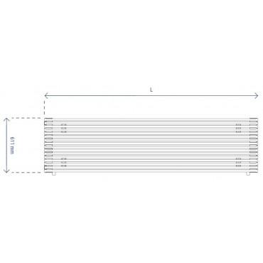 HushLab Fat Horizontal grzejnik horyzontalny pojedynczy 611x1000 949W, biały - 729472_T1