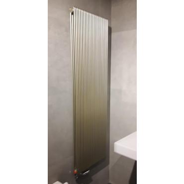 HushLab Fat Vertical grzejnik wertykalny podwójny 1450x342 960W, biały - 729441_A1