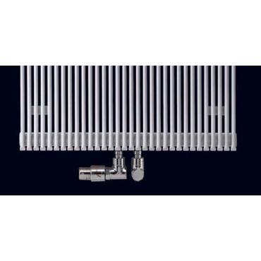 HushLab Fat Vertical grzejnik wertykalny podwójny 1450x342 960W, biały - 729441_T1