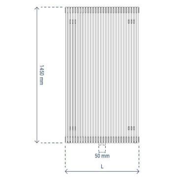 HushLab Fat Vertical grzejnik wertykalny podwójny 1450x532 1494W, biały - 729443_T2