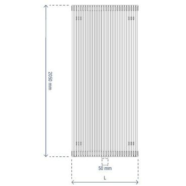 HushLab Fat Vertical grzejnik wertykalny podwójny 2050x342 1327W, biały - 729453_T2