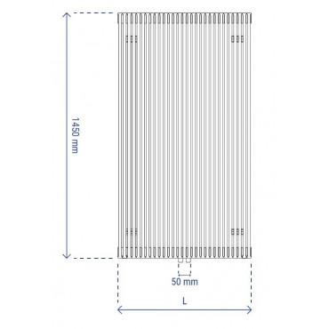 HushLab Fat Vertical grzejnik wertykalny pojedynczy 1450x342 677W, biały - 729417_T1