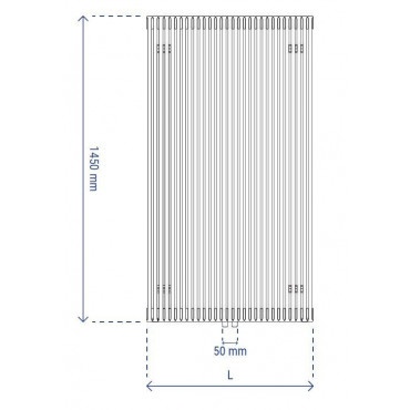 HushLab Fat Vertical grzejnik wertykalny pojedynczy 1450x532 1053W, biały - 729419_T1