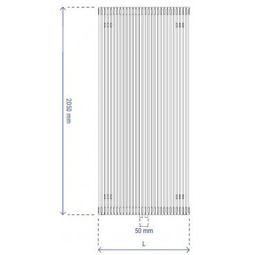HushLab Fat Vertical grzejnik wertykalny pojedynczy 2050x532 1456W, biały - 729431_T1