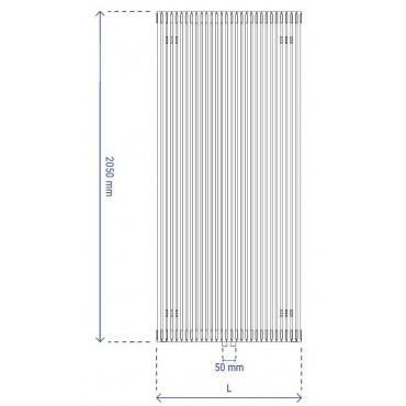 HushLab Fat Vertical grzejnik wertykalny pojedynczy 2050x570 1560W, biały - 729432_T1