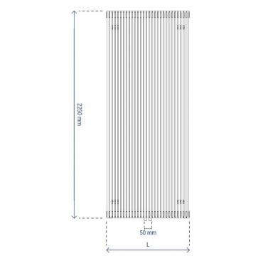 HushLab Fat Vertical grzejnik wertykalny pojedynczy 2250x646 1928W, biały - 729440_T1
