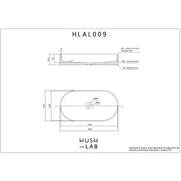 HushLab SLIM 65 umywalka 65X34,5 - 739606_T1