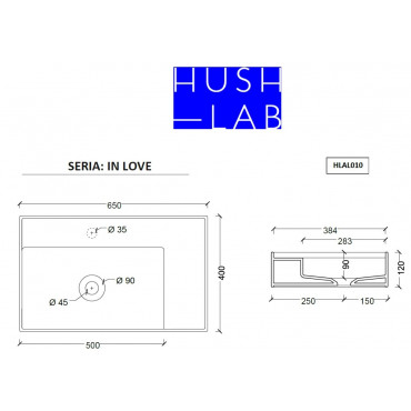HushLab IN LOVE 65 umywalka 65X40 - 739608_T1