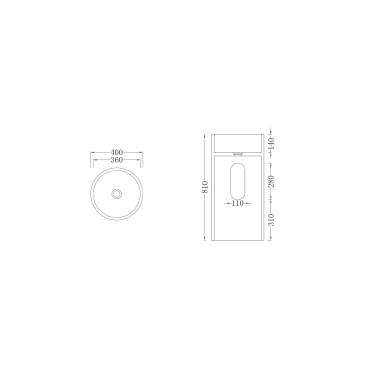 HushLab Five Stars Line umywalka stojąca średnica 40cm - 739503_T1