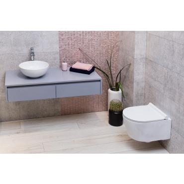 HushLab Level Perfect miska WC wisząca bezrantowa z deską wolnoopadającą (zestaw) - 739508_A1