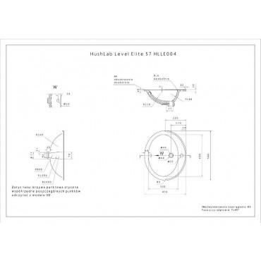 HushLab Level Elite 57 umywalka wpuszczana w blat 56,5x47,5 - 739512_T1