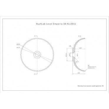 HushLab Level Emporio 38 umywalka nablatowa średnica 38,5cm - 739519_T1