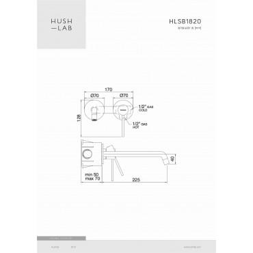 HushLab Siena Black Bateria umywalkowa podtynkowa - 766716_T1