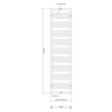 HushLab Lean grzejnik 1821x600 970W, biały - 729524_T1