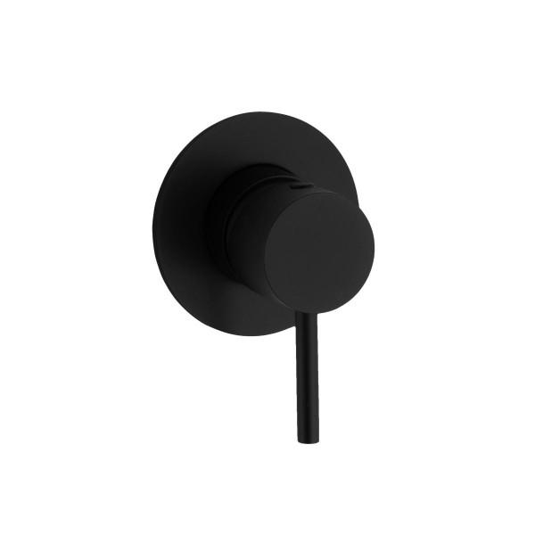 HushLab Lukka Black Bateria prysznicowa podtynkowa Czarny mat - 794840_O1