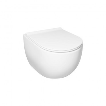 HushLab Calm Wc wiszący 50x35 kolor biały matowy - 766701_O1