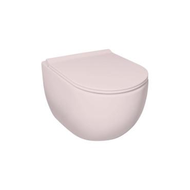 HushLab Calm Wc wiszący 50x35 kolor różowy matowy - 781914_O1