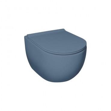 HushLab Calm Wc wiszący 50x35 kolor indigo matowy - 781915_O1