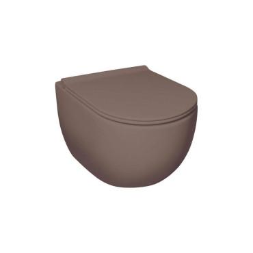 HushLab Calm Wc wiszący 50x35 kolor kawowy matowy - 782061_O1