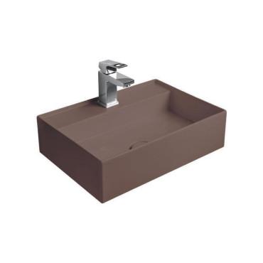 HushLab InLove umywalka wisząca 50S 50x35 kolor kawowy matowy - 781602_O1