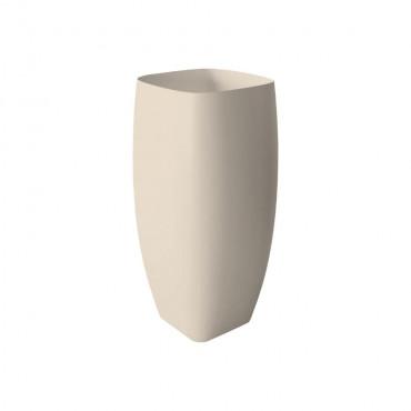 HushLab Run umywalka stojąca 45x40 kolor kości słoniowej matowy - 781878_O1