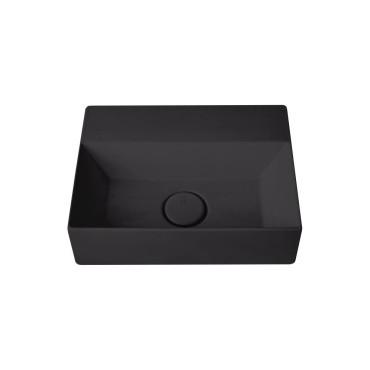 HushLab Small 40 umywalka wisząca 40x30 kolor czarny matowy - 773356_O1