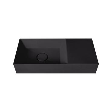 HushLab Small 55 umywalka wisząca 55x25 kolor czarny matowy - 773290_O1