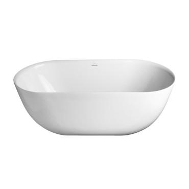HushLab Bowls Wanna wolnostojąca owalna Pure 160x75 biała - 794944_O1