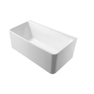 HushLab Bowls Wanna przyścienna wolnostojąca prostokątna Brick 150x72 biała - 817883_O1