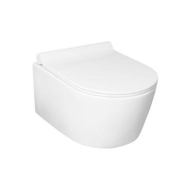 HushLab Level Perfect miska WC wisząca bezrantowa z deską wolnoopadającą (zestaw) - 739508_O1