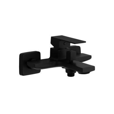 HushLab Piatto Black Bateria wannowo-prysznicowa ścienna Czarny mat - 794824_O1
