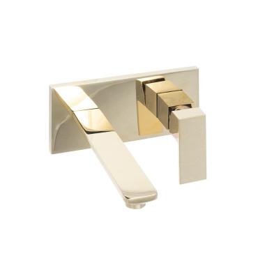 HushLab Piatto Gold Bateria umywalkowa podtynkowa 200 Złoty błyszczący - 820224_O1