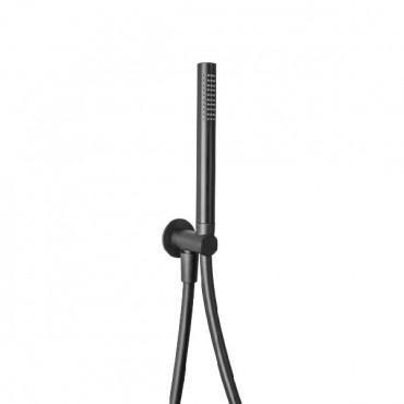 HushLab Siena Black Zestaw prysznicowy z kolanem wypływu kpl - 766717_O1