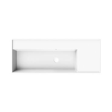HushLab InLove umywalka wisząca z półką po prawej stronie 46x121 - 771996_O1