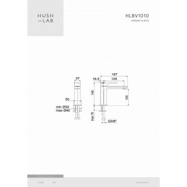 HushLab Belverde Bateria umywalkowa jednouchwytowa - 781365_T1