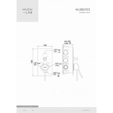 HushLab Siena Black Bateria wannowo-prysznicowa podtynkowa - 766692_T1