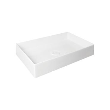 HushLab SUPER SLIM 60 umywalka nablatowa 60X37 kolor biała matowy - 766702_O1