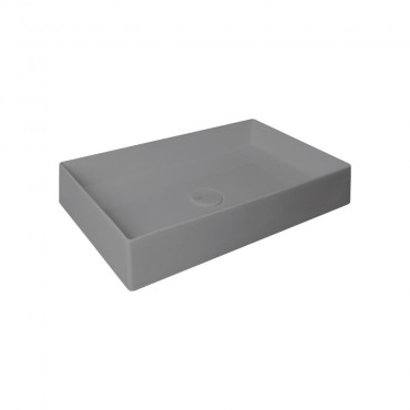 HushLab SUPER SLIM 60 umywalka nablatowa 60X37 kolor antracytowy matowy - 766801_O1