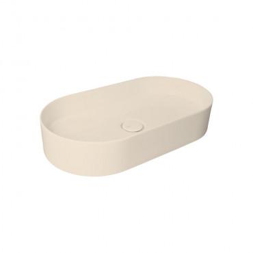 HushLab SLIM 65 umywalka 65X34,5 kolor kości słoniowej matowy - 781575_O1