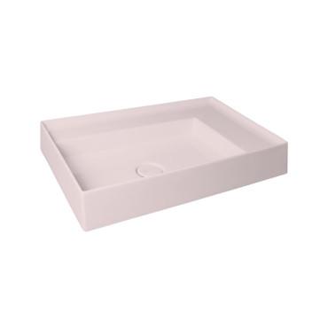 HushLab IN LOVE 65 umywalka 65X40 kolor różowy matowy - 781524_O1