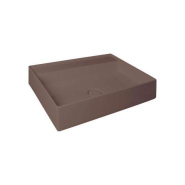 HushLab IN LOVE 60S umywalka wisząca 60X45cm kolor kawowy matowy - 781734_O1