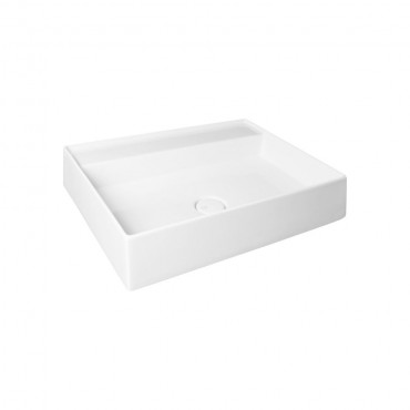HushLab IN LOVE 80S umywalka nablatowa 80X45cm kolor biała matowy - 766931_O1