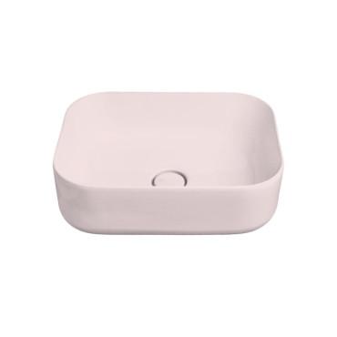 HushLab Cloud umywalka prostokątna 50x37 h.16,5 kolor różowy matowy - 781578_O1