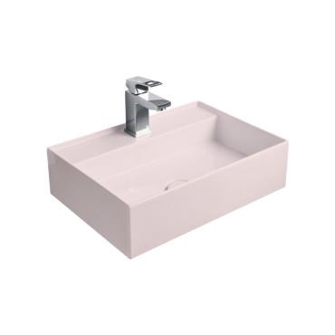 HushLab InLove umywalka wisząca 50S 50x35 kolor różowy matowy - 781716_O1