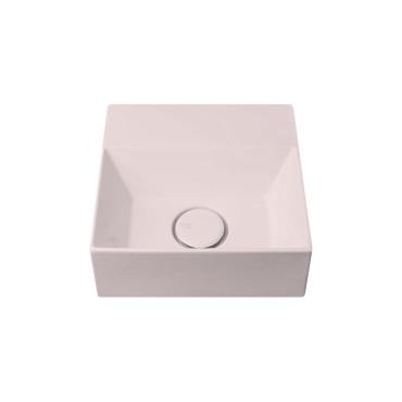 HushLab Small 30 umywalka wisząca 30x30 kolor różowy matowy - 781837_O1