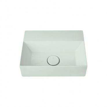 HushLab Small 40 umywalka wisząca 40x30 kolor jasnozielony matowy - 781509_O1