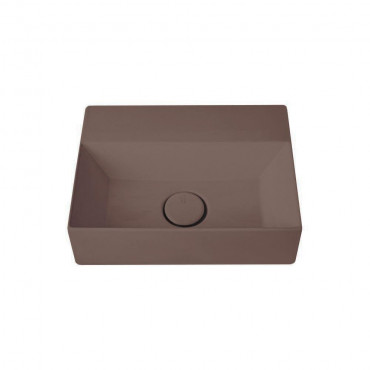 HushLab Small 40 umywalka wisząca 40x30 kolor kawowy matowy - 781961_O1
